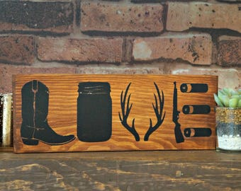 Country LOVE | Wood Signs | Rustic Sign | Wooden Sign | Country Decor | Country Sign | Rustic Decor | Love Sign | Home Decor