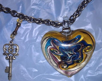 Heart Necklace  Which key will open my heart (I 126)