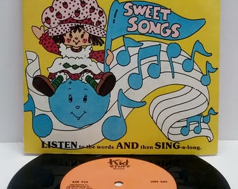 Book and Record Set- Strawberry Shortcake