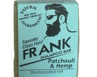 Solid Shampoo - Hemp Oil Patchouli Nettle Shampoo Bar - Natural Shampoo - Solid Shampoo Bar - Natural Shampoo Bar For Men - Men Shampoo Soap