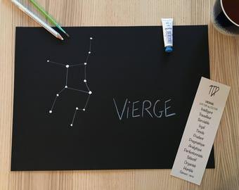 Christmas gift - Constellation Zodiac Virgo - free shipping - handmade