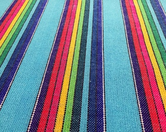 Mexican Nantli Cyan w rainbow stripes black outline Wrap available in 5,5 yards and 4,2 yards Baby carrier