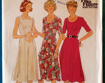 "Vintage 1979 ""Fit to Figure"" dress sewing pattern - Style 2708 - size 12 - 34"" bust, 26.5"" waist, 36"" hip - 1970's"