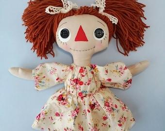 Primitive dolls Rag doll Raggedy Ann doll Prim doll Textile doll Cloth dolls handmade Ragdoll decor doll Rag dolls handmade Home decor