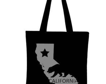 California Tote Bag, Canvas Tote Bag, Reusable Grocery Bag, Shopping Bag, Farmer's Market Bag, Reusable Tote Bag