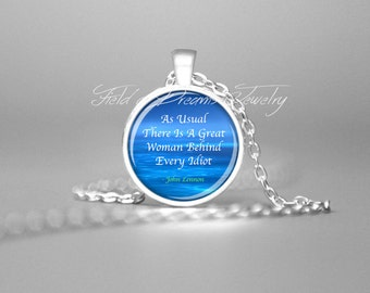 JOHN LENNON INSPIRATIONAL Quote Jewelry Inspirational Necklace Inspiring Quotes Pendant Motivational Pendant Inspiring Quotes Jewelry Gift