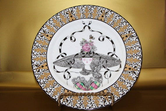 Lola'a Chapeau Bloomingdales Limited Edition Collector's Plate By Diana Marye Huff