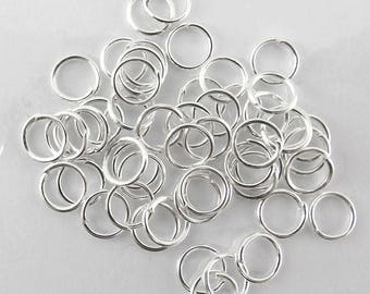 200 6 mm metal silver fdpg010 simple rings