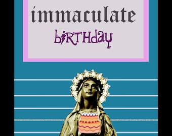 Virgin Mary birthday card