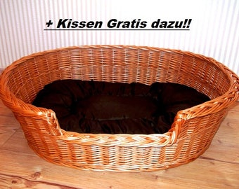 Bed Big Basket Dog wicker Natural material willow bed Braid Bed Willow Pet Basket Large cat bed