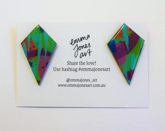 IVY Kite Drop Resin Earrings Wearable Art