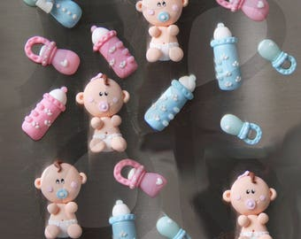 Customizable wedding favor magnets for babies