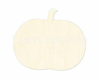 "2"" - 34"" Pumpkin Wooden Cutout Shape, Thanksgiving, Silhouette, Gift Tags Ornaments Laser Cut Birch Wood  #1164"