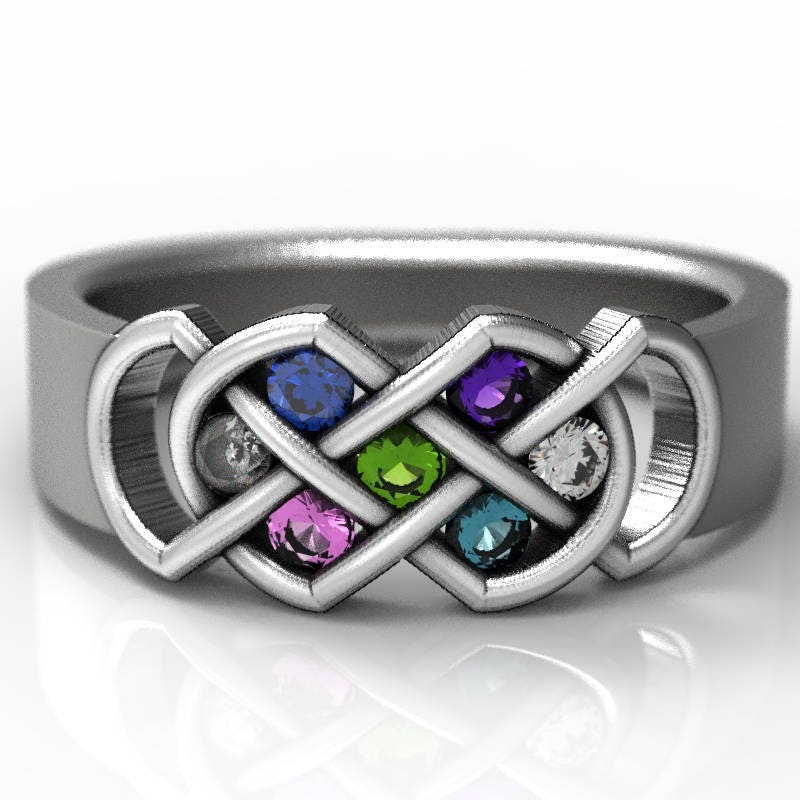 ring name from rings infinity birthstone in for mothers silver s accessories jewelry on wholesale heart caged engraved mother item sterling