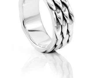 Snake (or dragon) scale ring