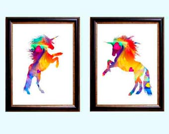 watercolor,  unicorn,  Unicorn print, unicorn art, unicorn poster, nursery Decor, girls room art, unicorn room Decor, girls nursery Decor