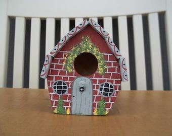 Small Brick look Birdhouse #244