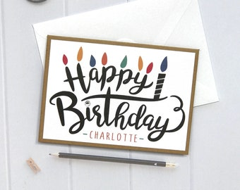 Personalized Birthday Card, Happy Birthday Card, Birthday Card, Birthday, Cards for Him, boyfriend, Handmade, Personalized