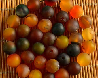 25 beads AGATE 8 mm H0062