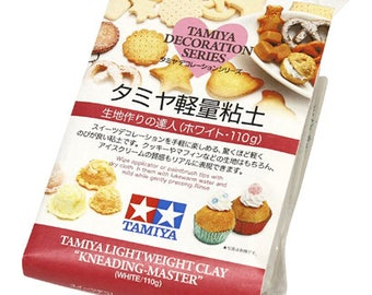 TAMIYA Lightweight Clay Kneading Master, Tamiya Decoration Series (110g) - Figurines / Doll / Flower / Miniature Food / Fake Food Clay