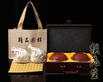 Gift box for go game beads weiqi go bowl leather gift box free shipping