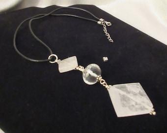 Garage...Crystal Quartz Pendant, Rock Quartz Jewelry, Handmade Jewelry, Clear Quartz, Handmade Pendant, Rock Quartz Gems, Healing Stones