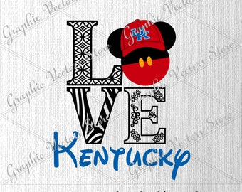 Love Kentucky svg, University svg, Files for Silhouette, Files for Cricut, Print Files, Files for Cutting Machine, Files for Decor, Layered.