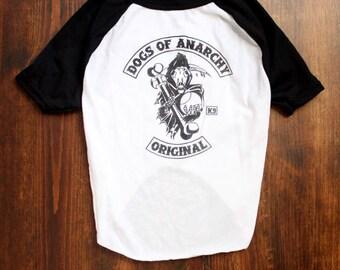 Dogs of Anarchy Original Screen-printed Dog Raglan/T-shirt