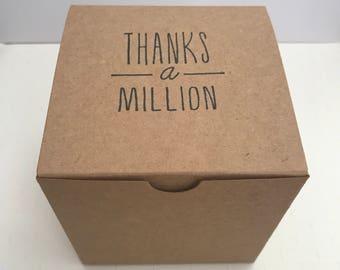 10 Thanks a Million Favor Box - Wedding Favor Box - Thank You Favor Box - Welcome Favor Box - Party Favor Box - Gift Box - Favor Boxes
