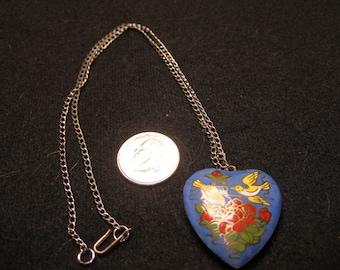"""18"""" Enamel Heart Pendant (1021)"""