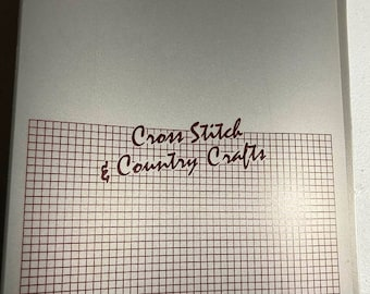 MAYniaSALE Cross Stitch & Country Crafts, Counted Cross Stitch, Vintage, Magazine, Collection Binder