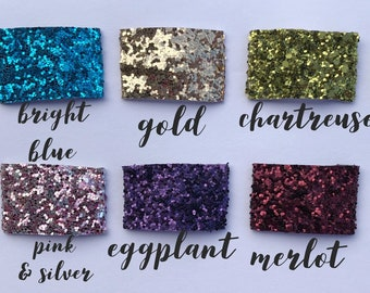 Glitter snap clips-- 10 color choices