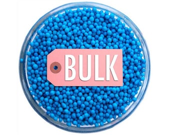 Blue Non-Pareils BULK (1lb) - vibrant tiny blue sprinkles for decorating cupcakes, cakes, cakepops, cookies, and ice cream