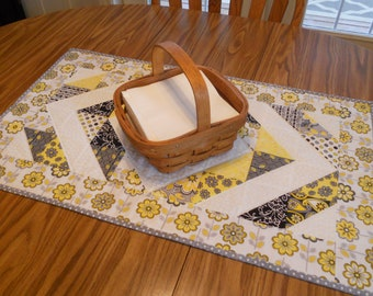 "Quilted Table Runner...in ""Disappearing Diamonds"""