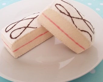 SOLD - Bakewell cake felt food slices