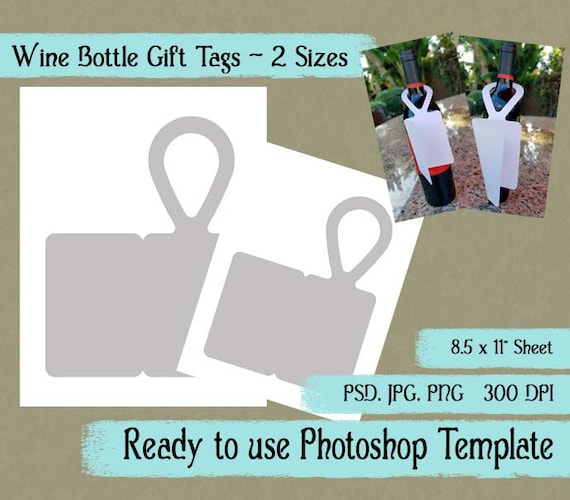 Digital Template Wine Bottle Gift Tag Diy Wine Bottle Gift Tag