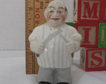 """1950,s RARE Wade figurine called the Butcher 3 1/2"""" tall in excellent condition."""