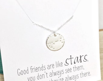 Friendship Necklace, Aries Constellation Necklace, Long Distance Friend Gift, April Birthday Gift Zodiac Necklace Personalized Gift