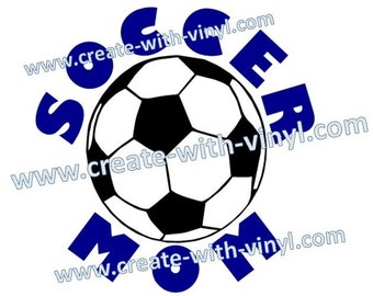 SOCCER MOM SVG file.  Cameo, Cricut, Embroidery Cut File studio file available