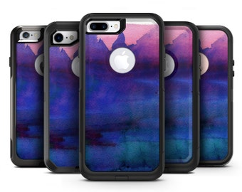 Dark Absorbed Watercolor Texture - OtterBox Case Skin-Kit for the iPhone, Galaxy & More