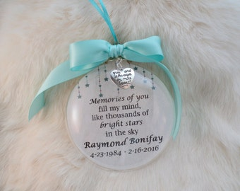 In Memory Ornament, Memories of You Fill My Mind, Mother, Father, Brother Sister, Loved One