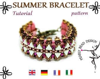 SUMMER bracelet pattern with Kheops beads and Bar beads DIY tutorial