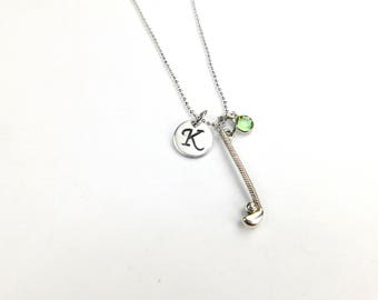 Golfer necklace etsy golf necklace golfer necklace initial necklace golf jewelry sport jewelry sport team necklace personalized golf ball necklace aloadofball Image collections