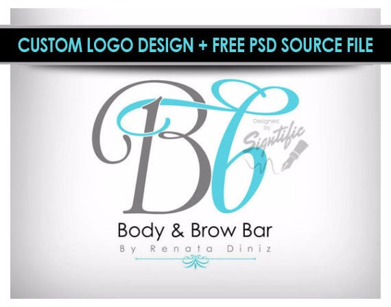 Elegant makeup artist logo, custom salon logo, make-up artistry logo, graphic design logo, aqua blue and gray logo design, OOAK logo design