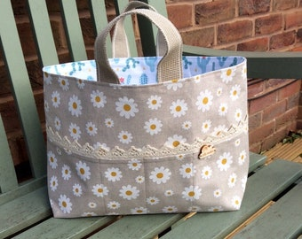 Project Bag (Large) : Daisy & Cactus