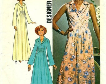 Simplicity 7794 Designer Fashion Dress VINTAGE 1970s c.1976 Size Choice 14 or 16 or 20