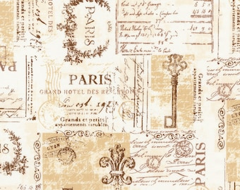 1/2 yd City of Lights Parchment Paris by Robert Kaufman Fabrics SRK16738265