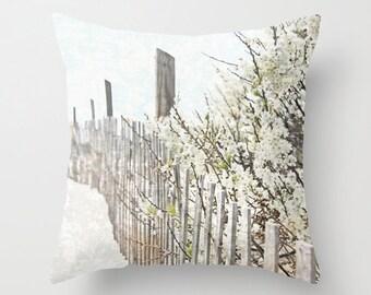 beach house decor beige and ivory pillow beach house throw pillow beige coastal pillow beach accent pillow cape cod pillow Truro Cape Cod