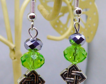 Celtic Knot Swarovski Earrings