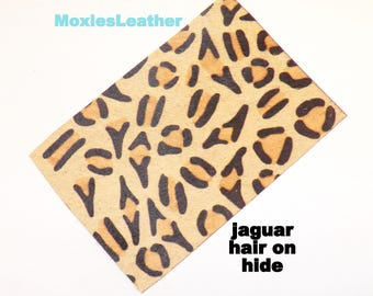 Hair on hide leather pieces- hair on hide print leather - and zebraprint leather - leather hide with hair on -